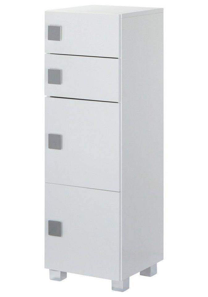 Unterschrank »Quadra«, Breite 33 cm in weiß/weiß