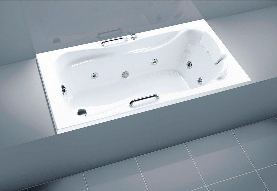 OTTOFOND Whirlpoolwanne »Komfort«, Breite/Tiefe in cm: 170-180/80, Whirlpool-System