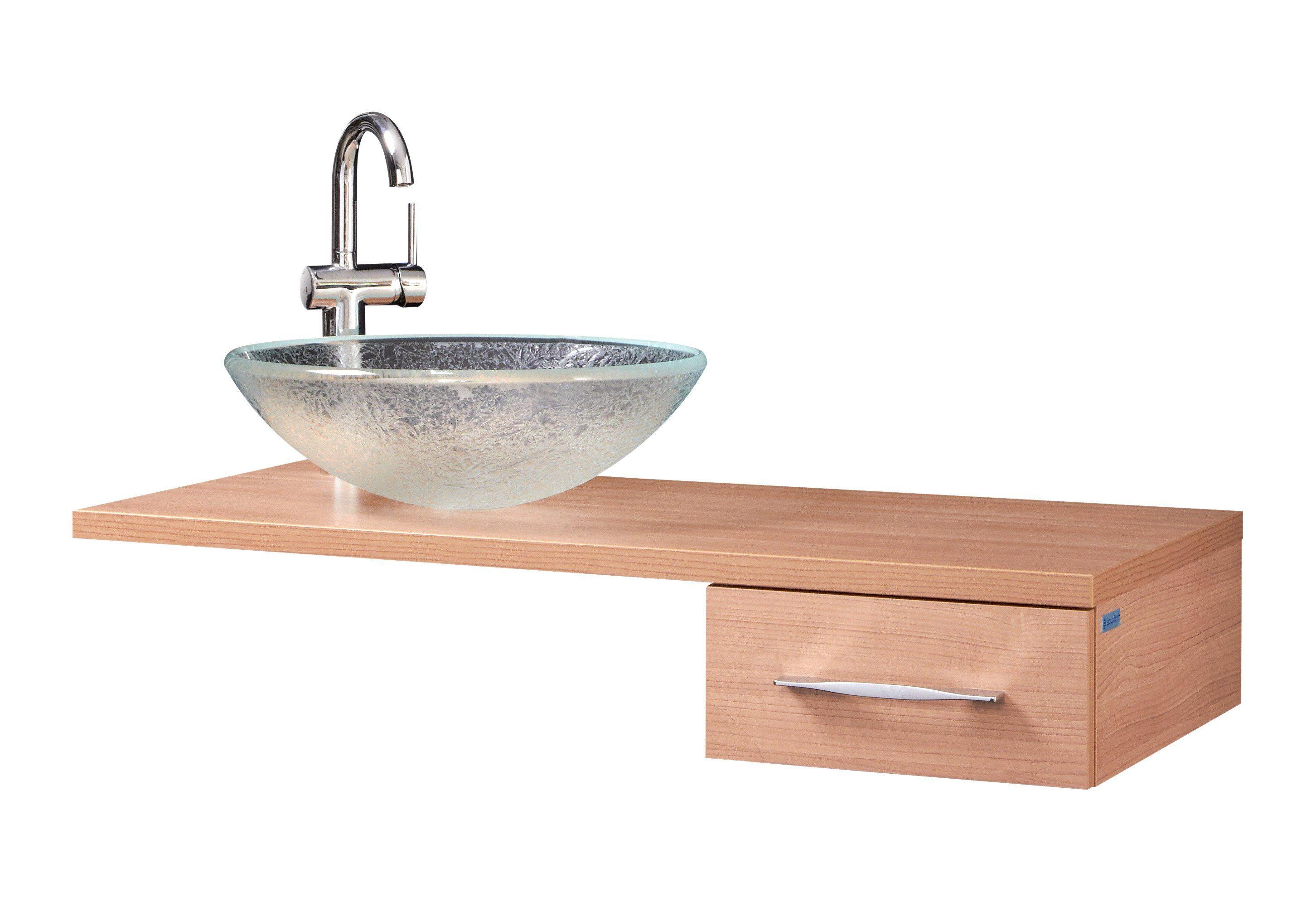 Glas-Waschbecken / Waschtisch »Flores« 45 cm