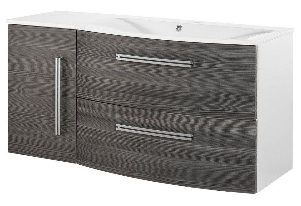 Waschtisch »Lugano«, Breite 115 cm in weiß/piniefarben