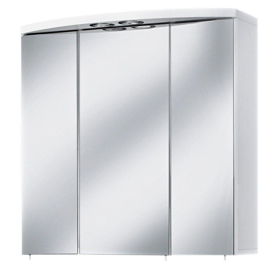 Schildmeyer Spiegelschrank »Verona« Breite 67 cm, mit Beleuchtung in weiß