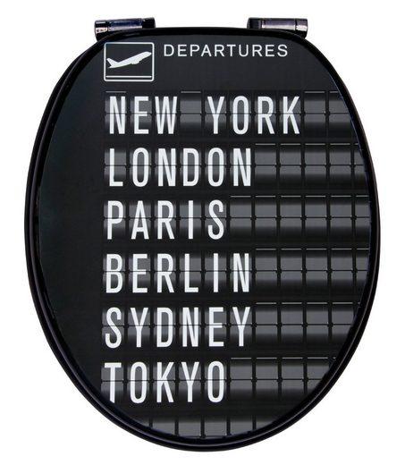 WC-Sitz »Departures«, Mit Absenkautomatik