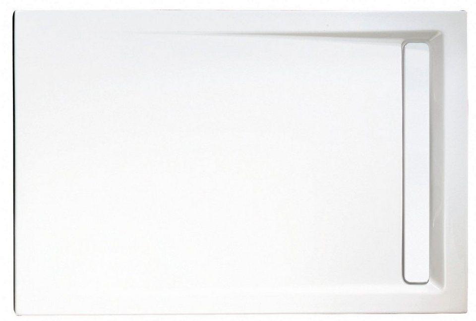 Rechteckduschwanne »Mit Rinnenabdeckung«, 90/120 cm
