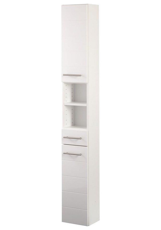 Hochschrank »Porto«, Breite 25 cm in weiß/weiß