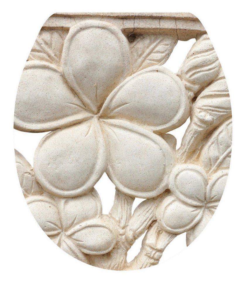 WC-Sitz »Plumeria«, Mit Absenkautomatik in weiß