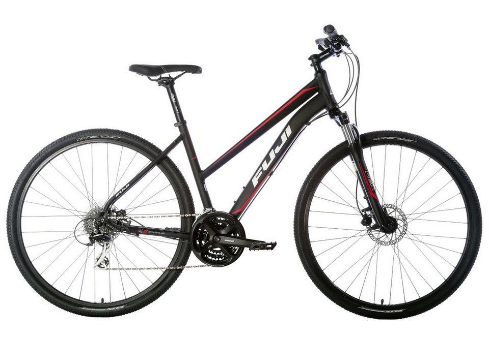 Fuji Damen Trekkingrad, 28 Zoll, 24 Gang Shimano Acera, 8-fach, »TRAVERSE 1.5 ST LE« in schwarz