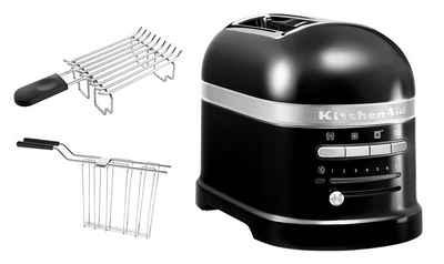 KitchenAid Toaster Artisan 5KMT2204EOB, 2 kurze Schlitze, für 2 Scheiben, 1250 W