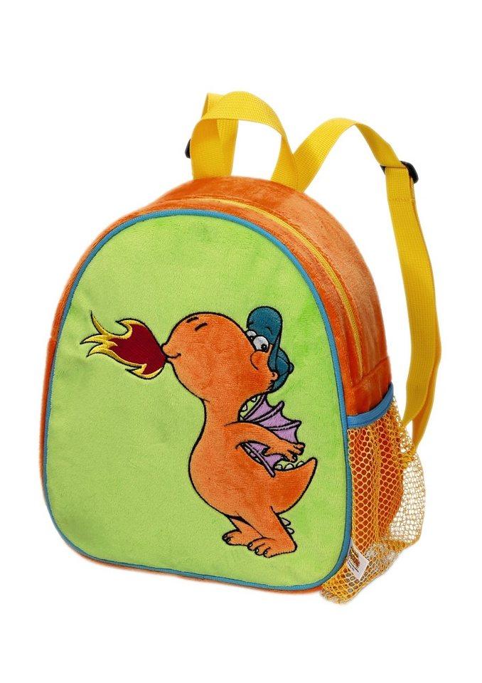 NICI Kinder Rucksack mit Plüschfigur, »Der kleine Drache Kokosnuss - Rucksack«