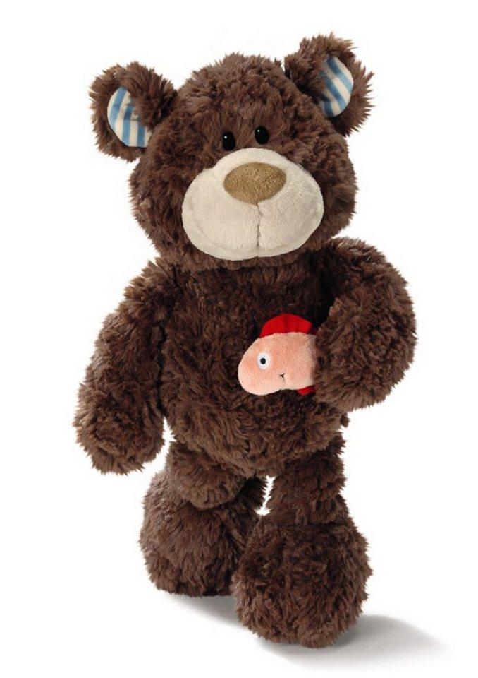 NICI Teddy mit Lachs, 35 cm, »Classic Bear« in braun