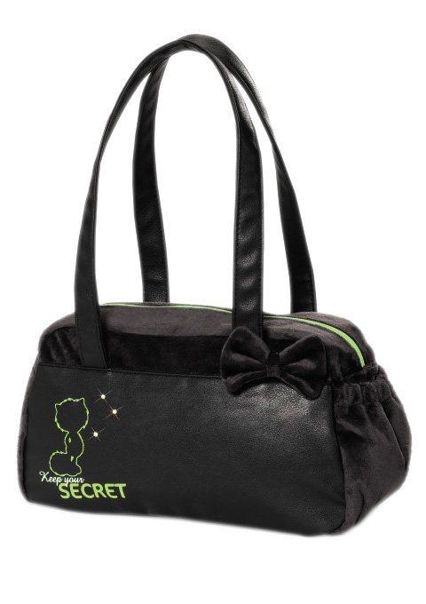NICI Handtasche, schwarzer Plüsch, »AYUMI - SECRET«