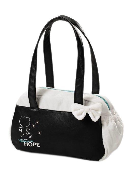 NICI Handtasche, weißer Plüsch, »AYUMI - HOPE«