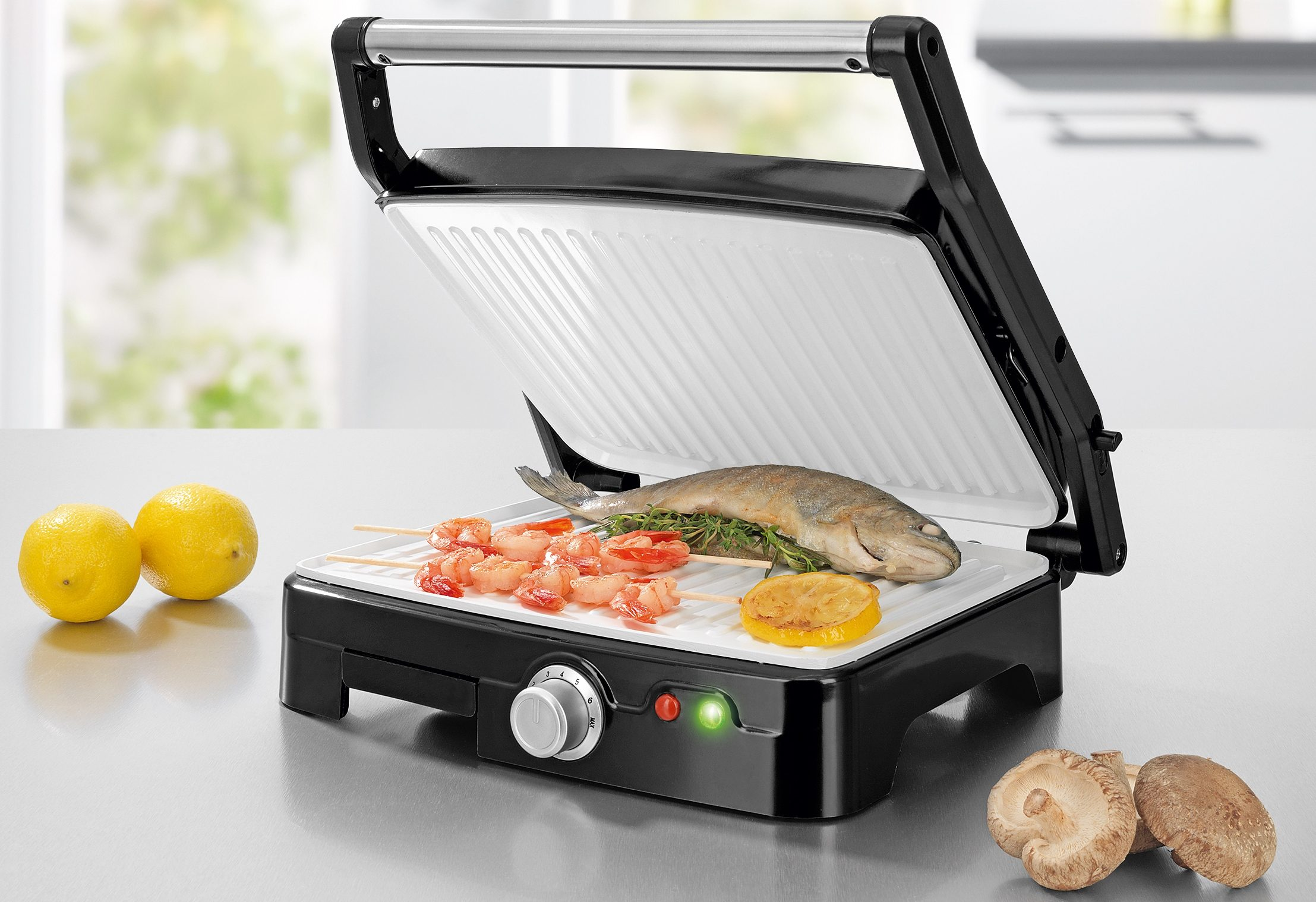 gourmetmaxx Turbo Grill Keramik Plus, 1800 Watt