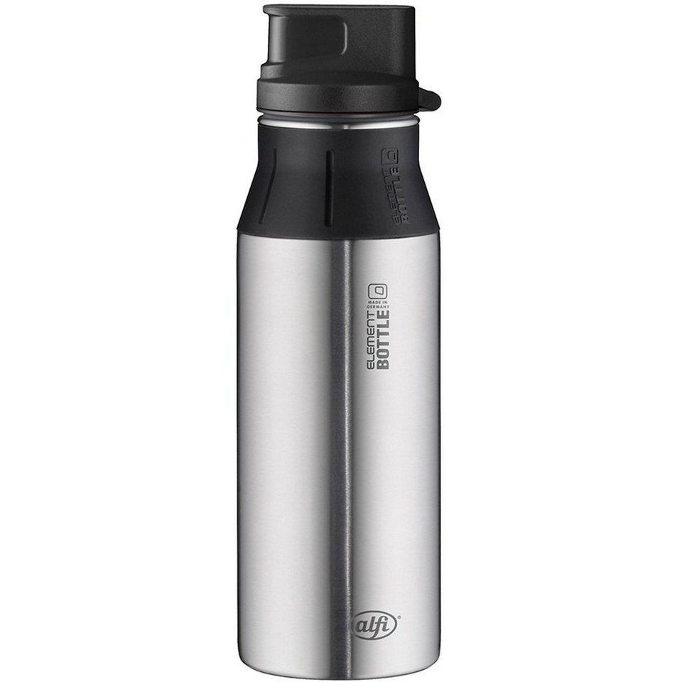 Alfi Trinkflasche elementBottle Pure Edelstahl, 600 ml in silber