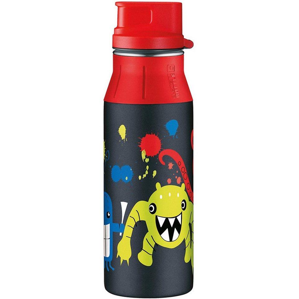 Alfi Trinkflasche elementBottle Monster, 600 ml in schwarz