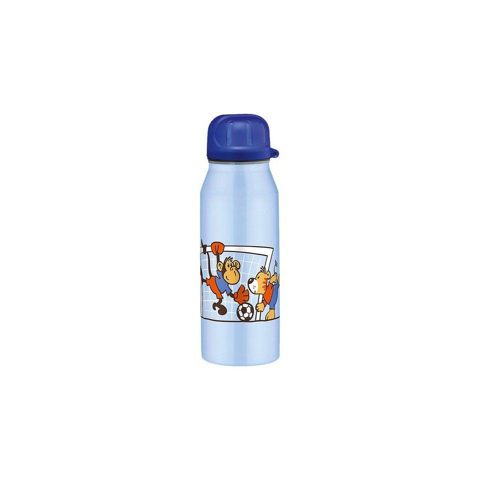 Alfi Isolier-Trinkflasche Animal football, 0,35 l in blau
