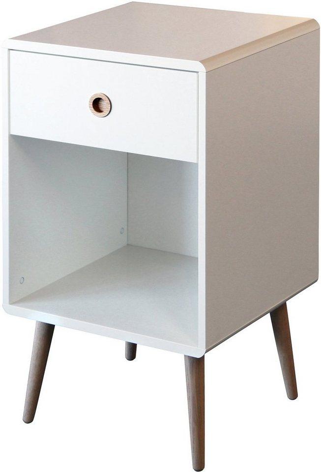 Kommode, Home affaire, »Softline«, Breite 41,5 cm in weiß lackiert