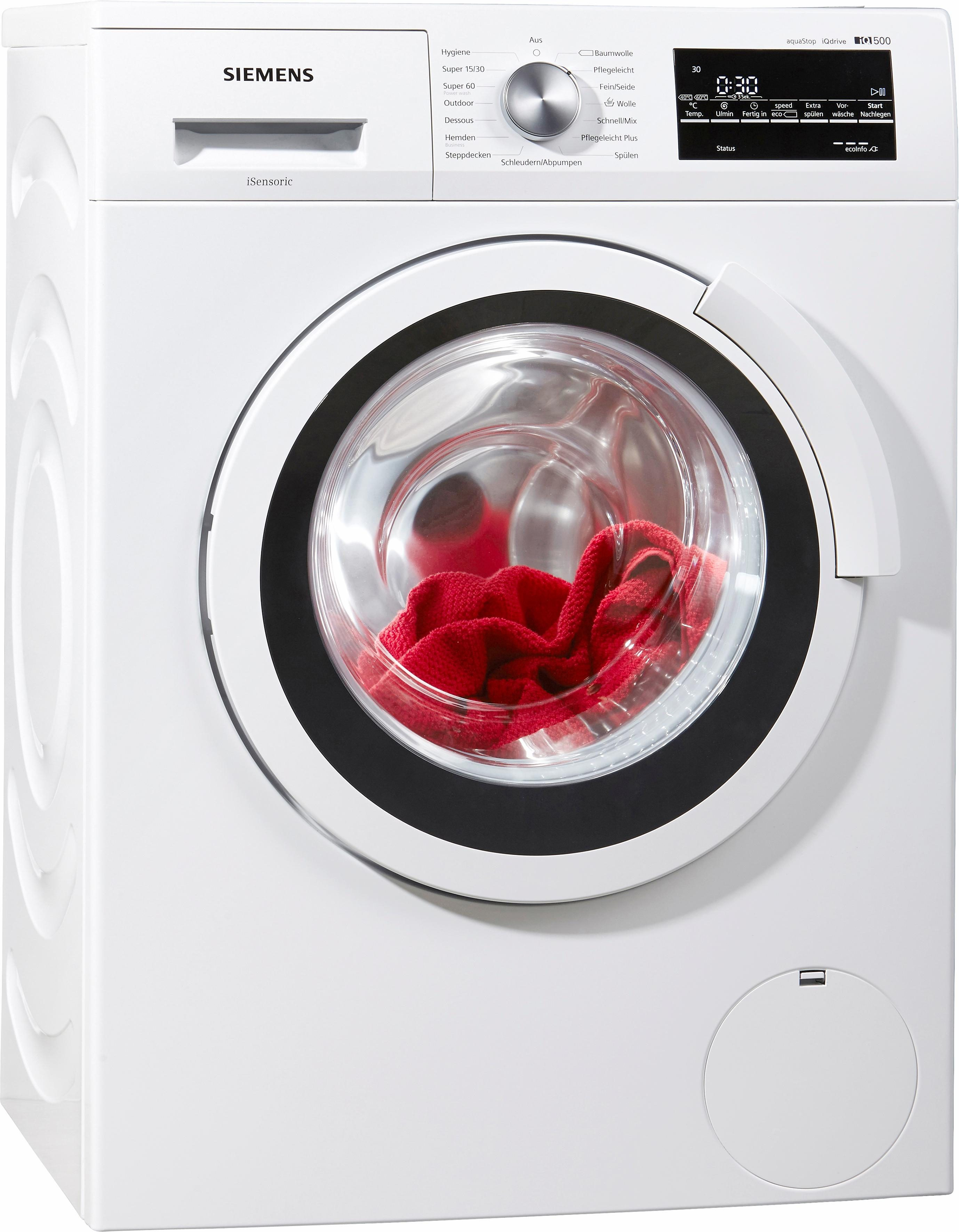 SIEMENS Waschmaschine iQ500 WS12T440, A+++, 6,5 kg, 1200 U/Min