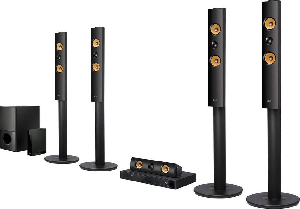 LG LHA855W 5.1 Heimkinosystem (3D Blu-ray Player, Hi-Res, 1.200 W, WLAN, Bluetooth, Spotify) in schwarz