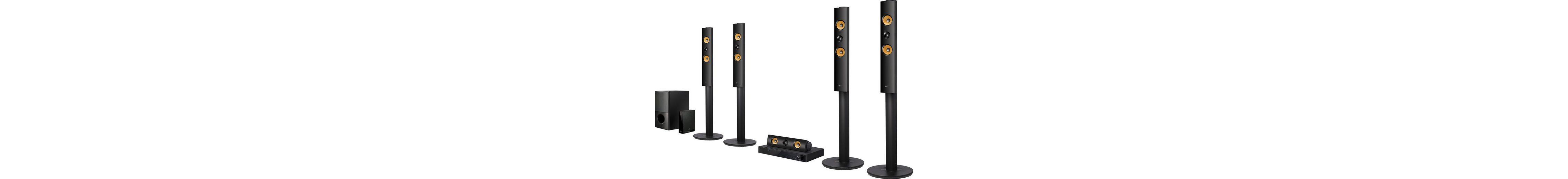 LG LHA855W 5.1 Heimkinosystem (3D Blu-ray Player, Hi-Res, 1.200 W, WLAN, Bluetooth, Spotify)