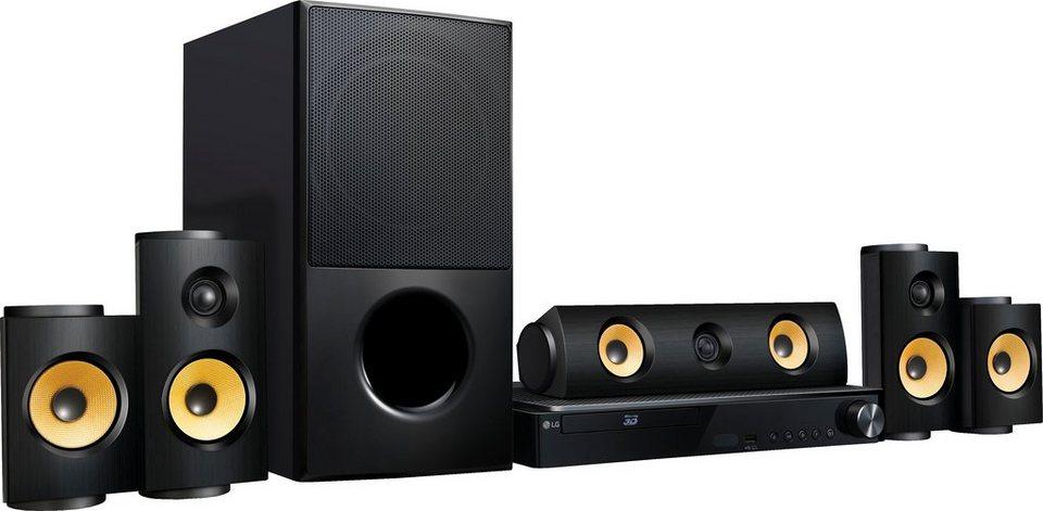 LG LHA825 5.1 Heimkinosystem (3D Blu-ray Player, Hi-Res, 1.200 W, WLAN, Bluetooth, Spotify) in schwarz