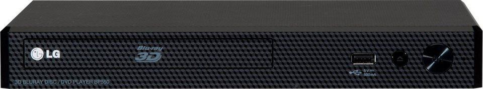 LG BP550 3D Blu-ray-Player, 3D-fähig, 1080p (Full HD), WLAN in schwarz