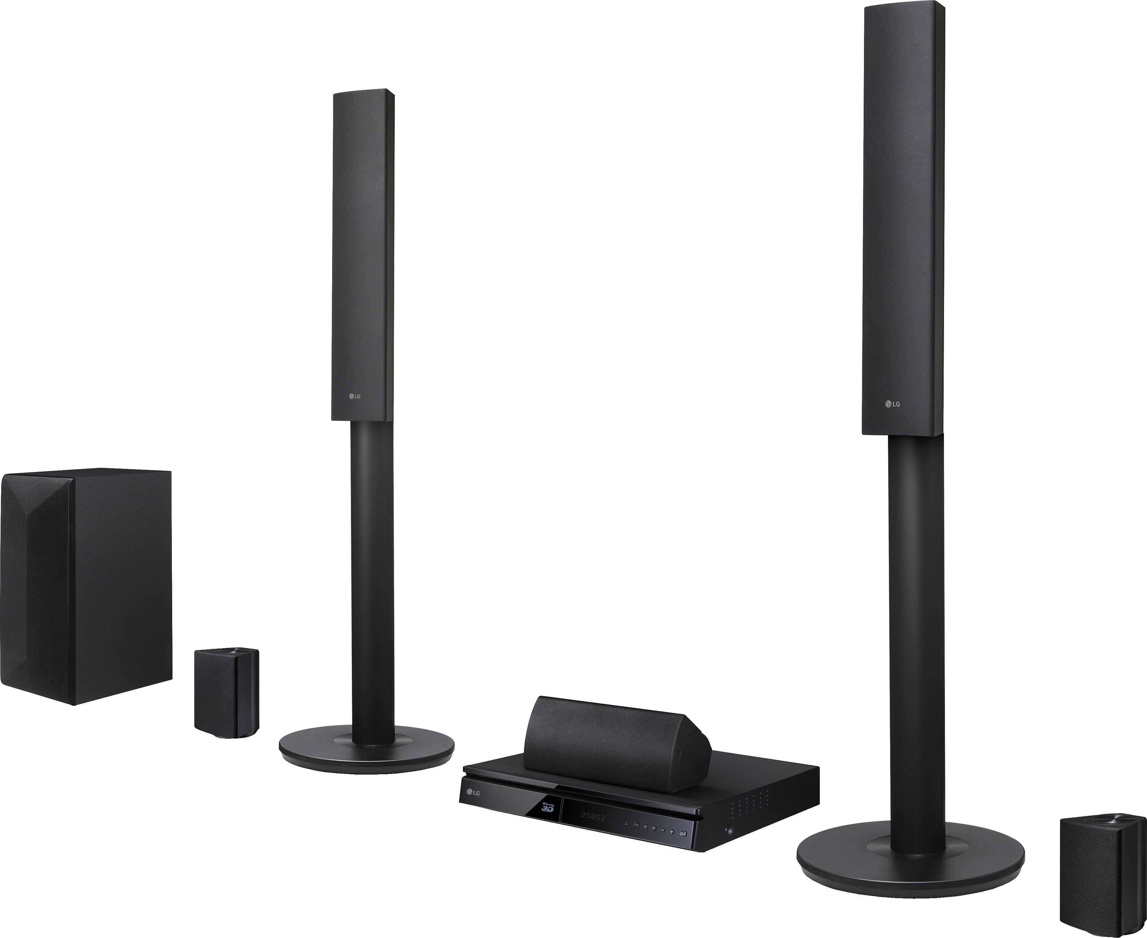 LG LHA745 5.1 Heimkinosystem (3D Blu-ray Player, 1.000 W, Bluetooth, Spotify)