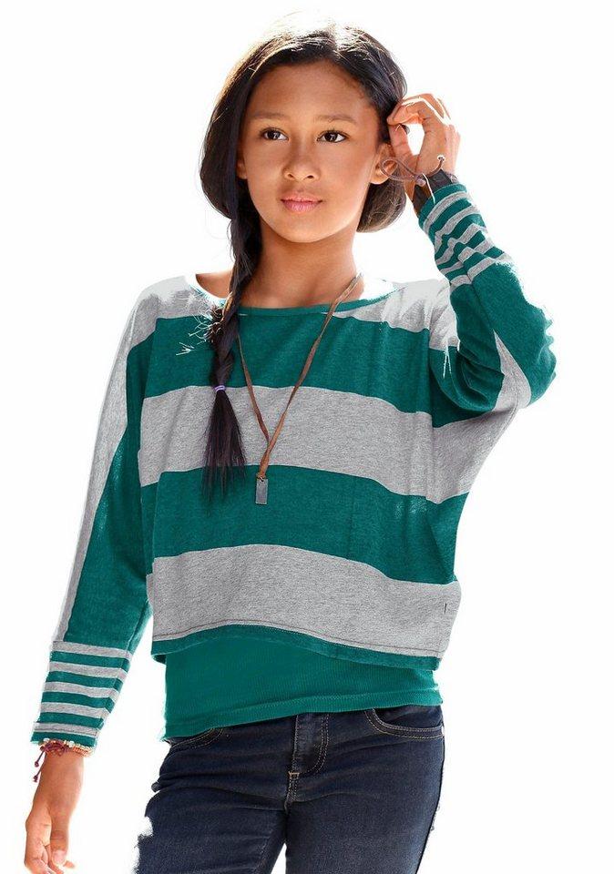 CFL Shirt & Top gedruckter Ringel (Set, 2-tlg.), für Mädchen in Grün
