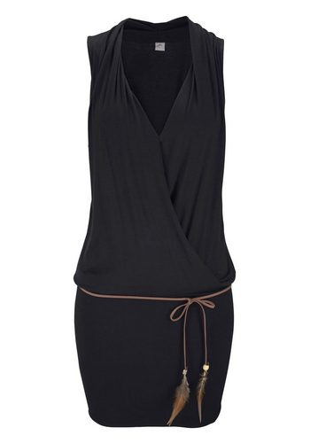 Damen s.Oliver RED LABEL Beachwear Longshirt (inkl. Gürtel) schwarz | 06950452543768