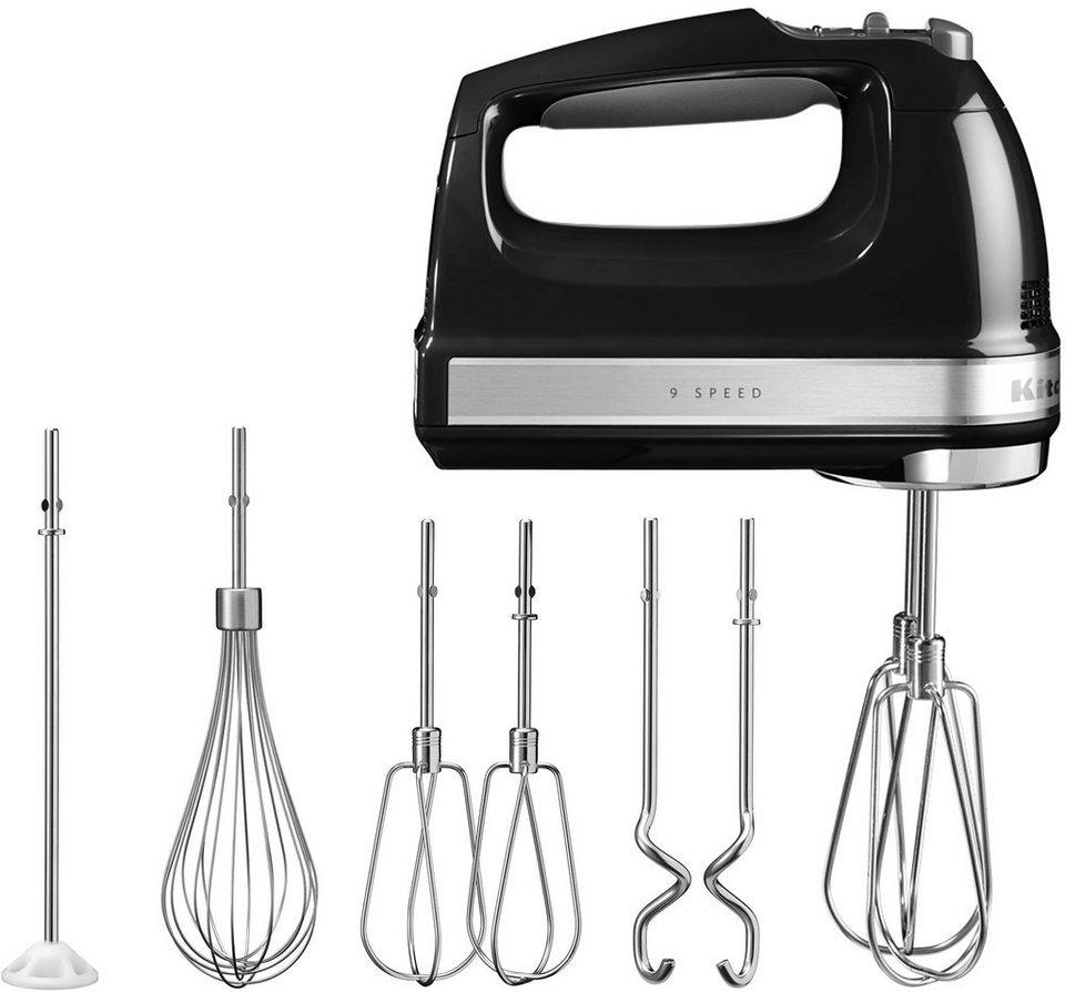 KitchenAid Handrührer 5KHM9212EOB, 85 Watt, 9 Stufen, onyx schwarz in schwarz