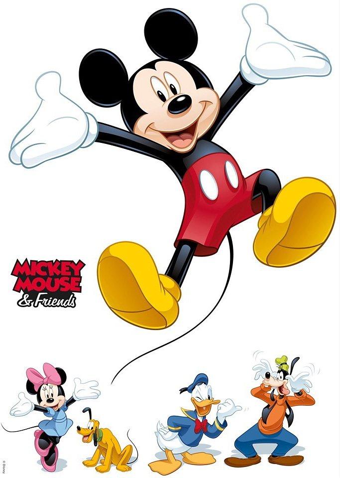 Wandsticker, Komar, »Mickey and Friends«, 50/70 cm in bunt