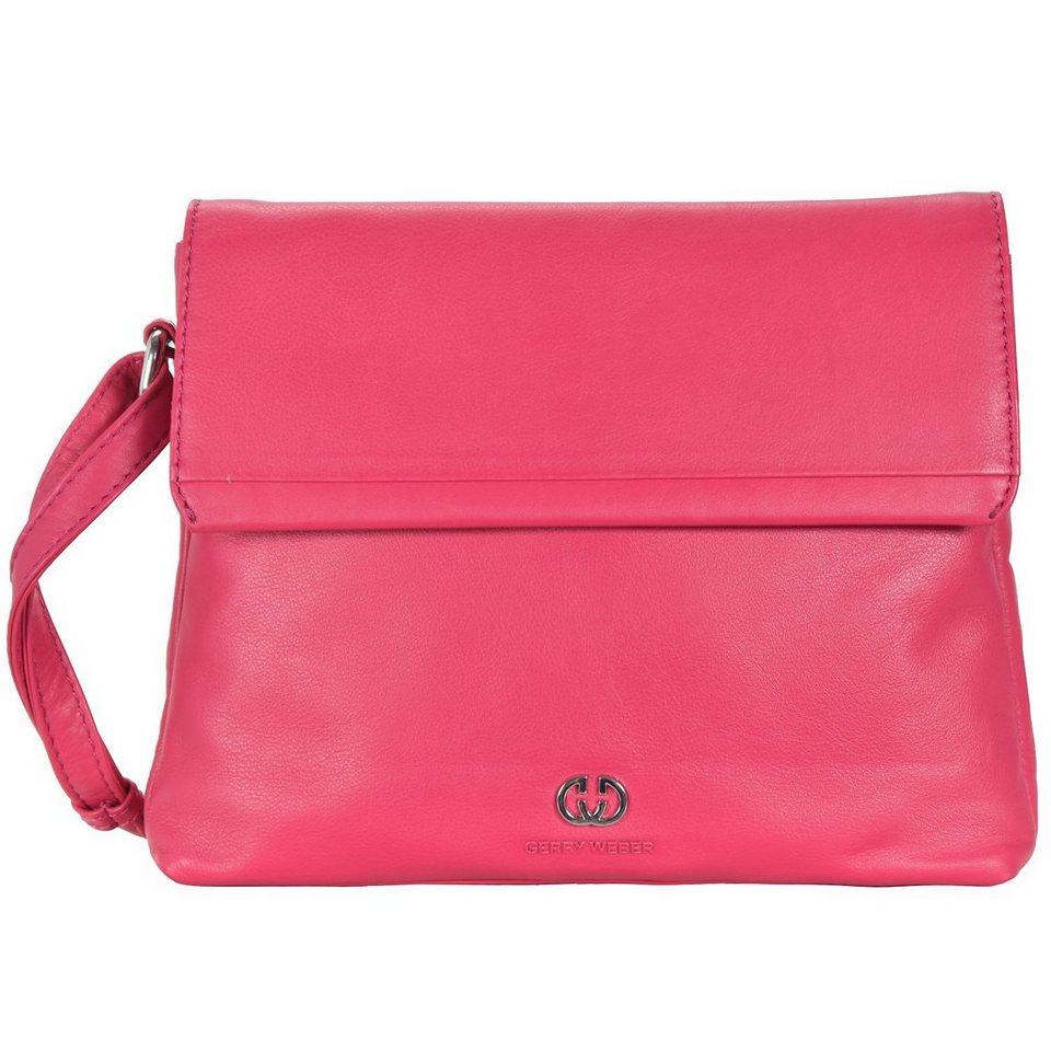 Gerry Weber Piacenza Flap Bag Leder 24 cm in pink