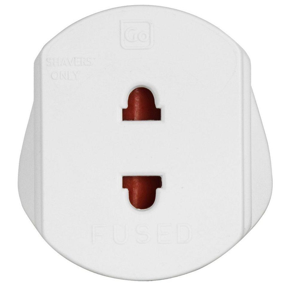 Go Travel Go Travel Elektro + Elektronikgeräte Shaver+ 2-polige Stecker-U in weiß