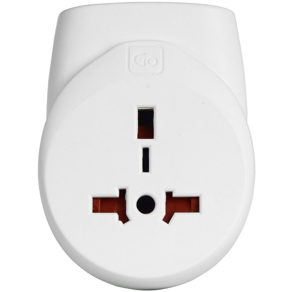 Go Travel Go Travel Elektro + Elektronikgeräte Doppel-USB Adapter UK in weiß