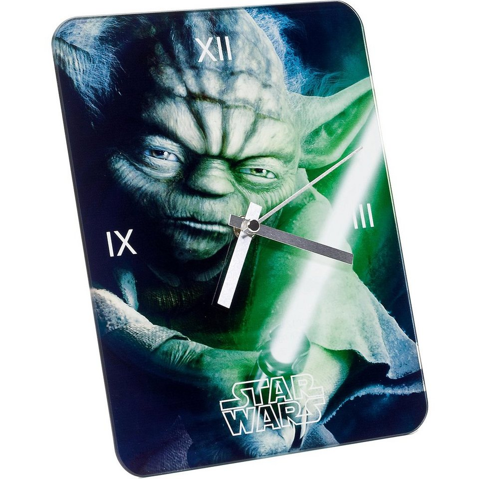 JOY TOY Glasuhr Yoda Star Wars