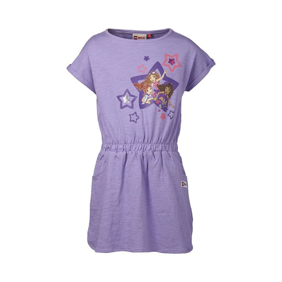 "LEGO Wear Friends Tunika Tutsie ""Freundinnen"" Jersey kurzarm in violett"
