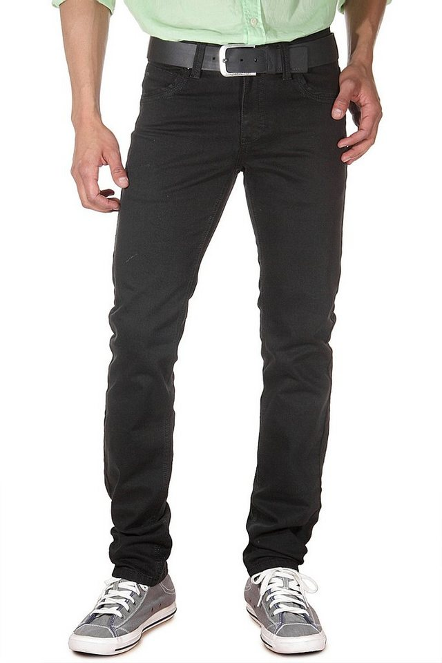 DIFFER Stretchjeans slim fit in schwarz