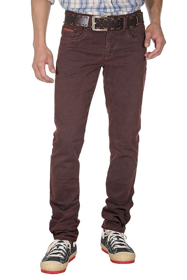 DIFFER Stretchjeans slim fit in bordeaux