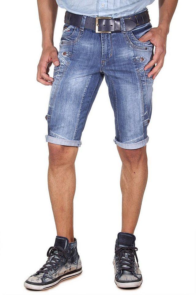 DIFFER Denim Shorts slim fit in blau