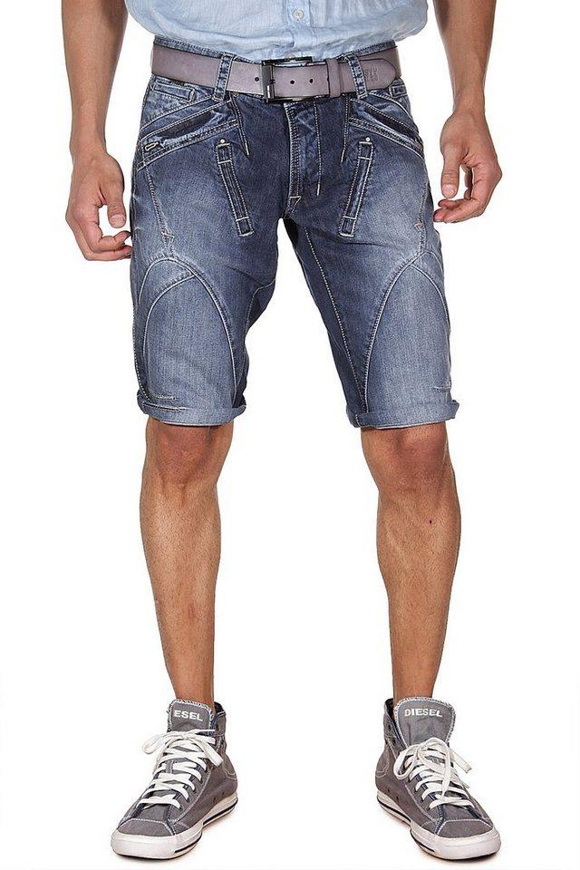 DIFFER Denim Shorts slim fit in dunkelblau