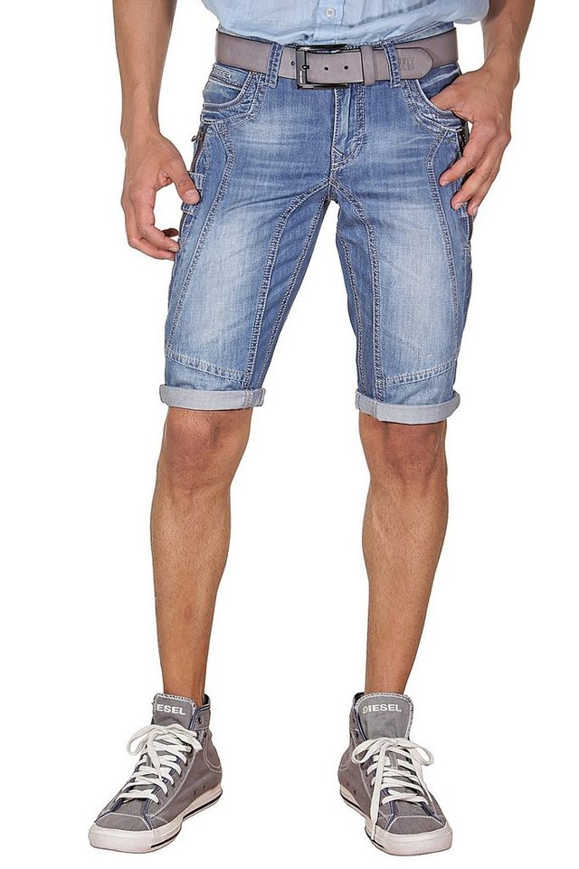 DIFFER Denim Shorts regular fit in blau