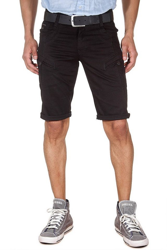 DIFFER Denim Shorts regular fit in schwarz