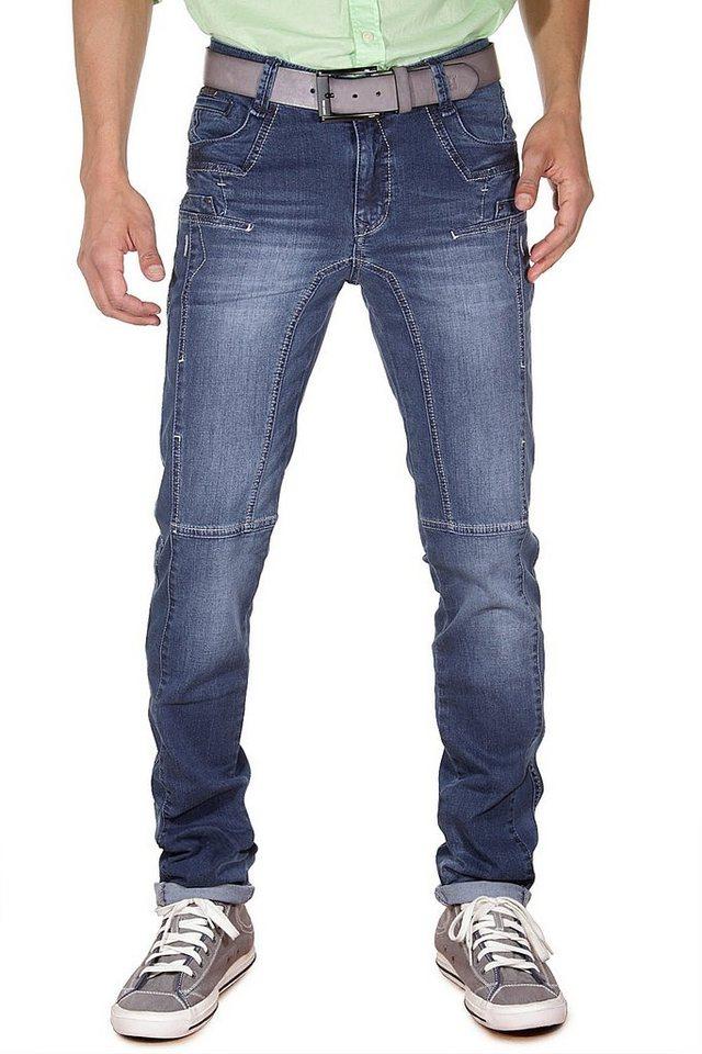 DIFFER Stretchjeans slim fit in blau