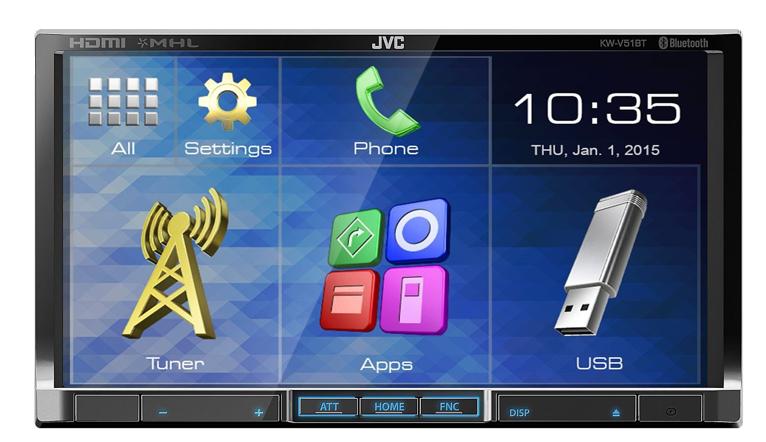 JVC 2-DIN Moniceiver mit Bluetooth »KW-V51BTE«