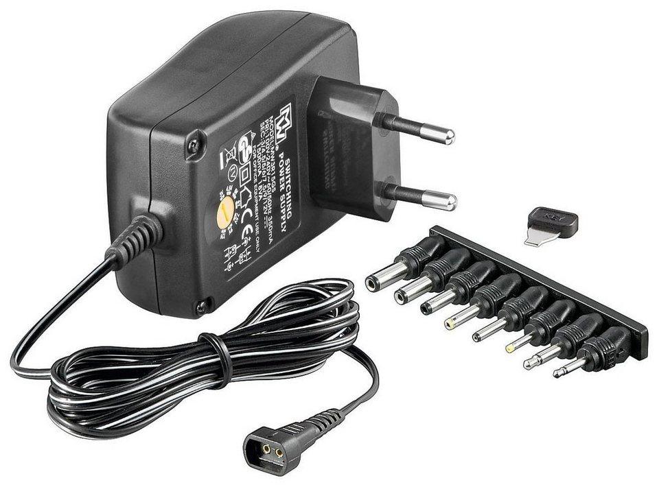 goobay 3-12 V Universal-Netzteil »inkl. 8 DC-Adaptern - max. 27,0 W und 2,25 A«