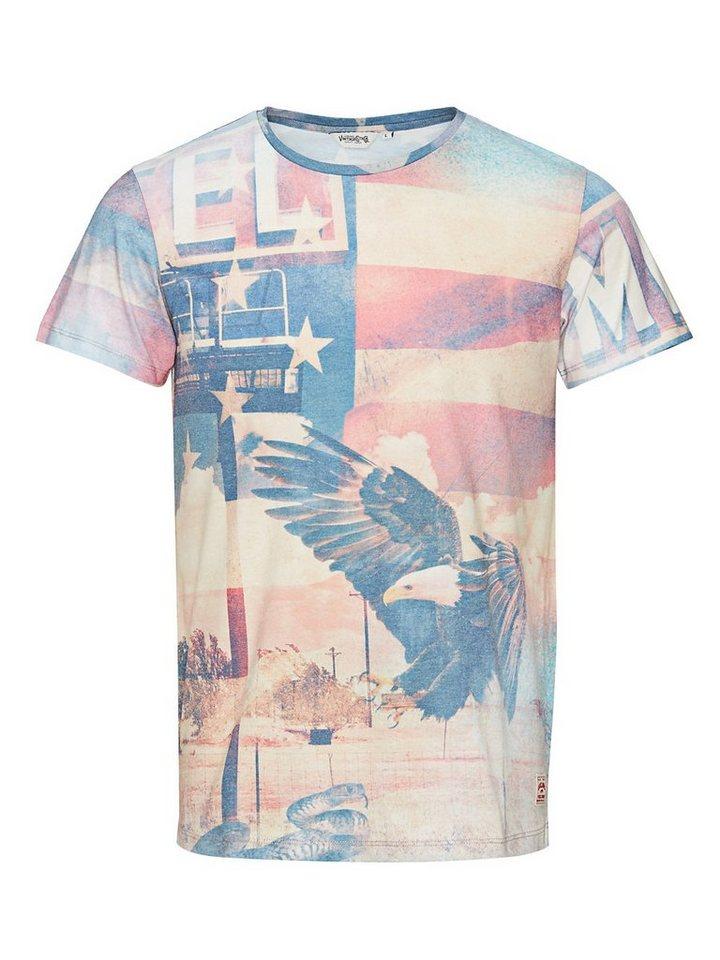 Jack & Jones Patriotischer Print T-Shirt in Cloud Dancer