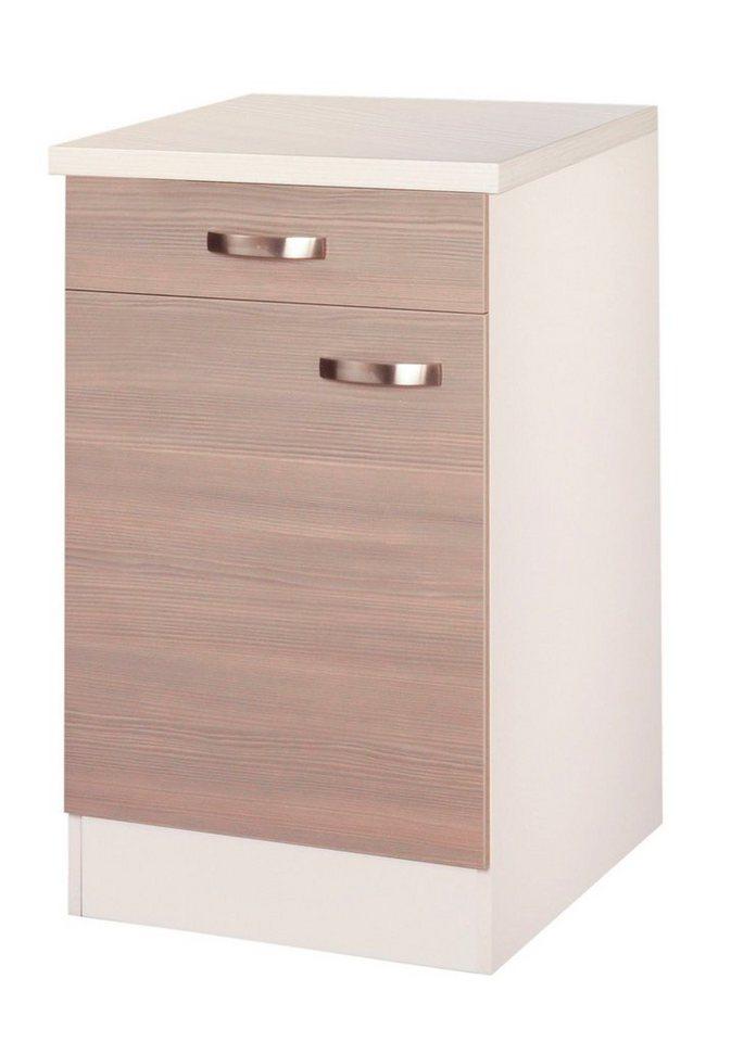 Küchenunterschrank »Vigo«, Breite 60 cm in piniefarben nougat/champagnerfarben