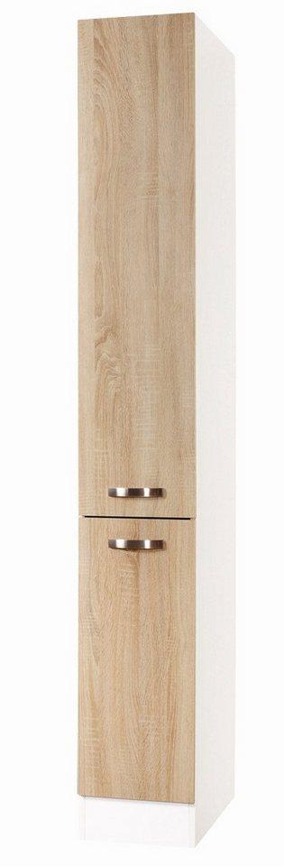Apothekerschrank »Padua«, Höhe 206,8 cm in champagnerfarben/eichefarben