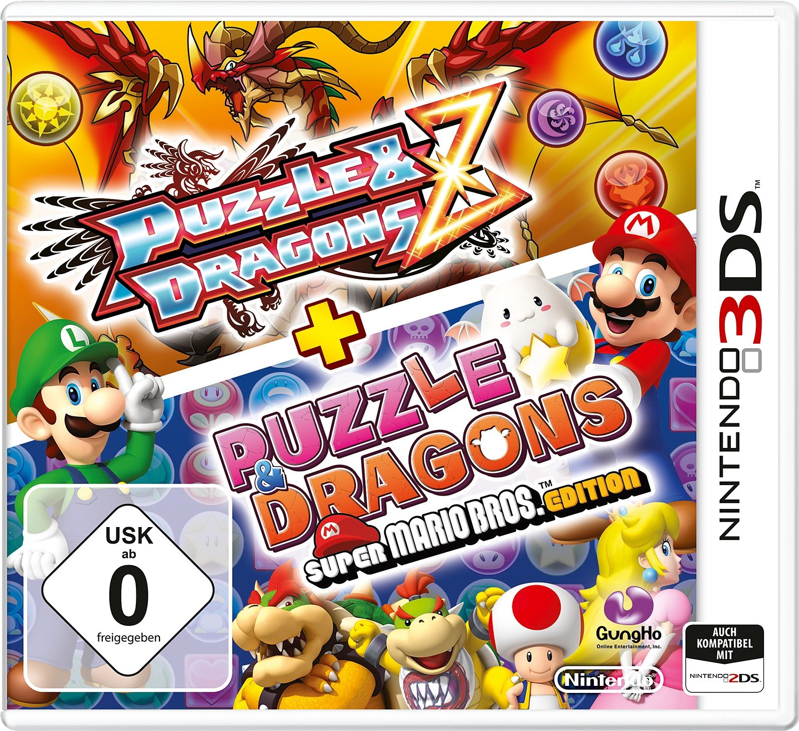 Puzzle & Dragons Z + Puzzle & Dragons: Super Mario Bros. Edt. New Nintendo 3DS