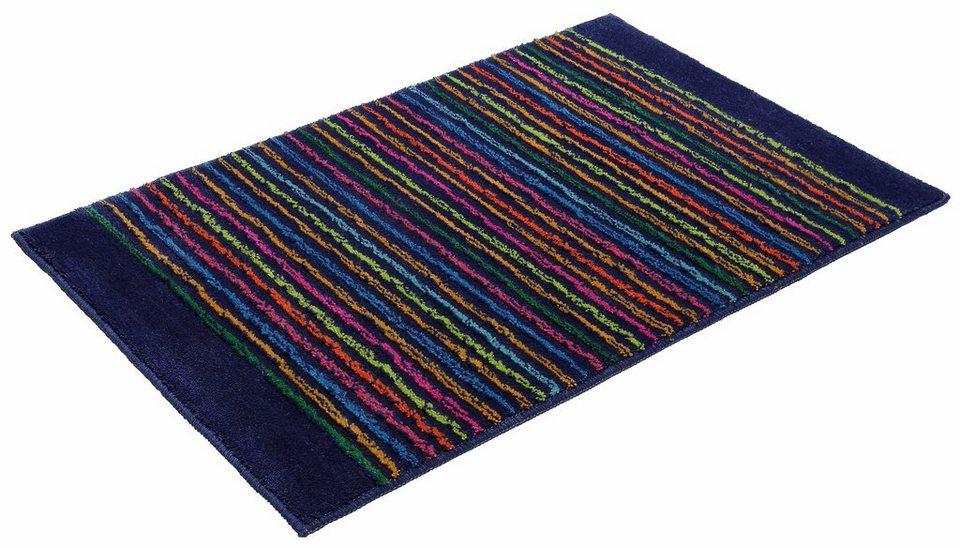 Badematte, Esprit, »Cool Stripes«, Höhe ca. 10mm, rutschhemmender Rücken in blau