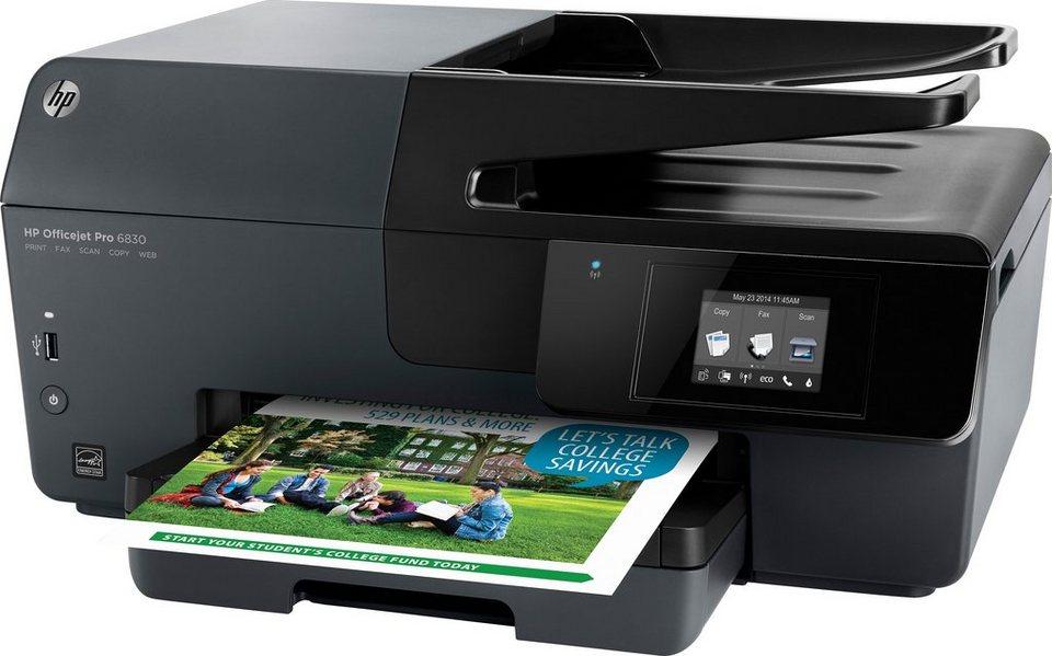 HP HP Officejet Pro 6830 Multifunktionsdrucker in schwarz